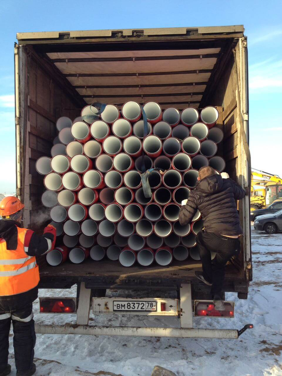 Поставка трубы для защиты высоковольтного кабеля