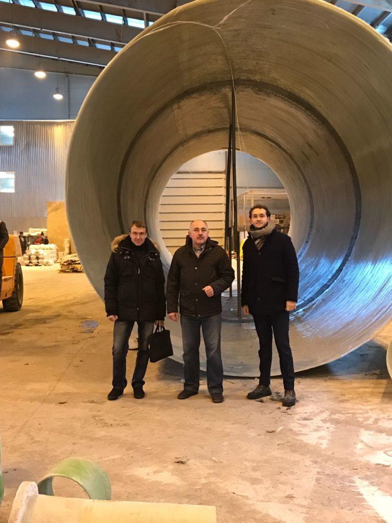 Встреча с партнерами по производству стеклопластиковых очистных сооружений